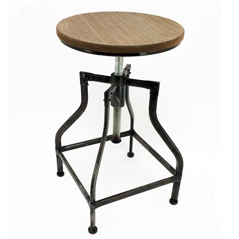Has Stool by New Rustic Retro Bristol Barstool Steel Rotating