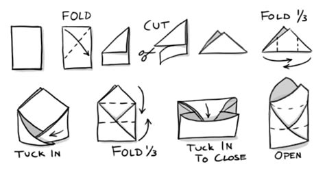 How Do U Make A Paper Envelope - how to fold a paper envelope for storing seeds