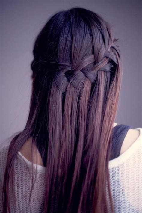 waterfall hairstyle step by step waterfall braid picture guide step by step tutorial