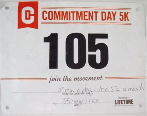 To 5k Day 1 by 17 Curated Event Race Bibs Ideas By Tommypricecoach