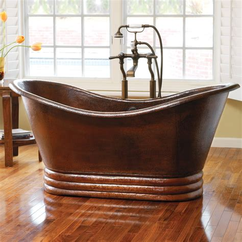 copper bathtubs aurora 72 freestanding copper bathtub native trails