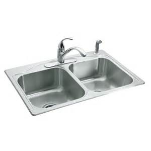 shop kohler cadence 22 in x 33 in basin stainless steel drop in 4 residential