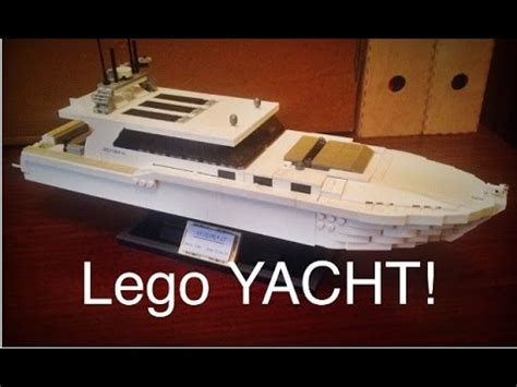 lego yacht tutorial lego yacht moc youtube