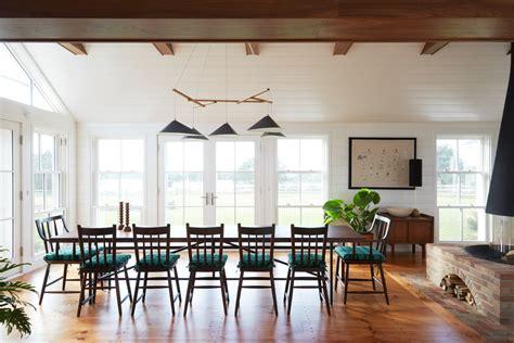large open dining room modern shaker beach house