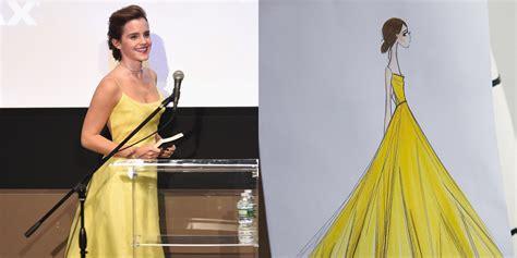 emma watson yellow dress how emma watson s dior yellow dress was made