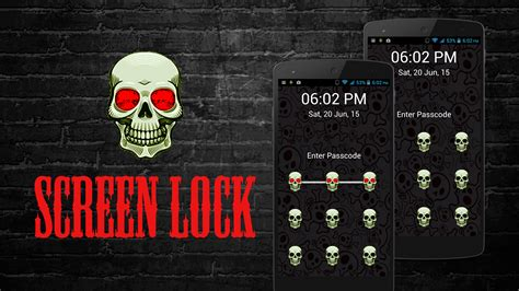 lock screen pattern vibration skull pattern screen lock real android apps on google play