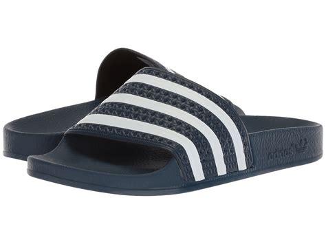 Sendal Sandal Adidas Adilette Biru Dongker Navy Original Murah 27 brilliant adidas adilette slides womens playzoa