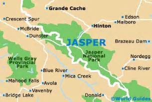 map of jasper jasper maps and orientation jasper alberta ab canada
