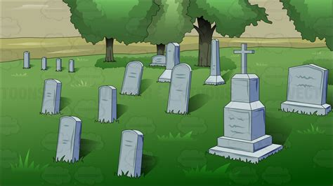 Cemetery Clipart a afternoon at the cemetery clipart by vector