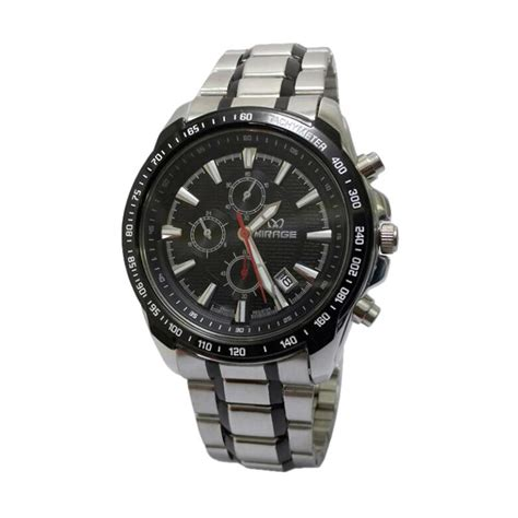 Jam Tangan Pria Mirage Silver harga mirage casual edition d45h420mrg8305mbrpspp date