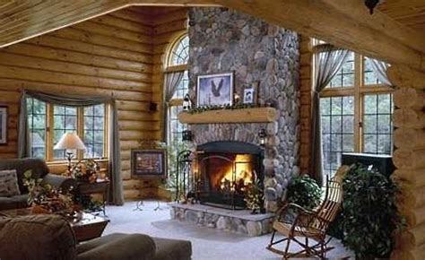 log cabin fireplace warming hearts  centuriesand today