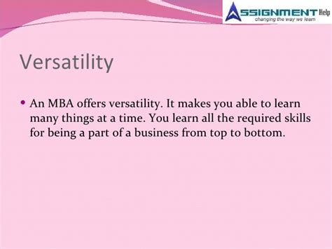 Things To Look For In An Mba Program by Assignment Help And Mba Trends In Current Markets