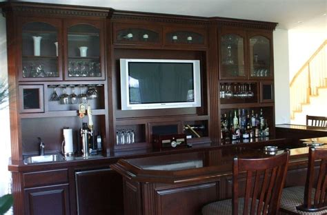 Built In Bar Cabinets with Built In Home Bar Cabinets Woodwork Creations