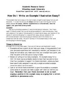 Essay Writing Exles For by Outline For A College Admissions Essay