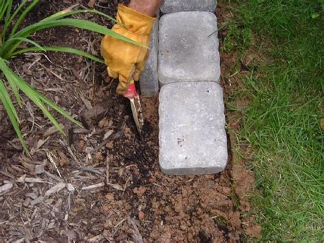 edging a flower bed edging a flower bed with cement pavers plant love pinterest
