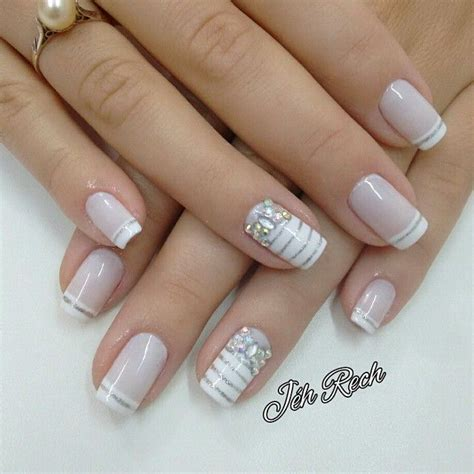 imagenes de uñas decoradas frances m 225 s de 25 ideas incre 237 bles sobre u 241 as francesas en