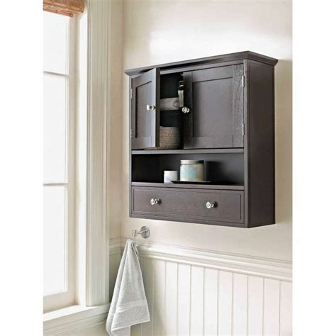brown bathroom wall cabinet home furniture decor two door
