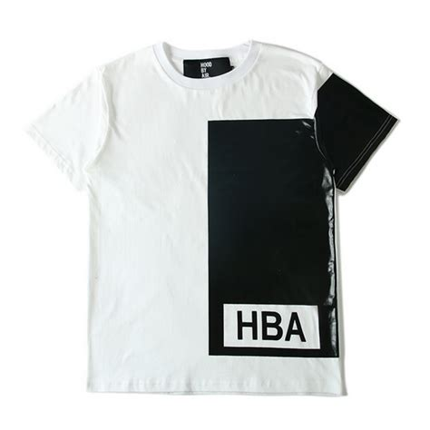 Sweater Hoodie Hba White Almira Collection by air quot hba illusion block quot t shirt white