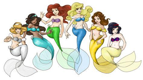 Disney Mermaids Disney Princess Photo 23612169 Fanpop Pictures Of Disney Princesses As Mermaids