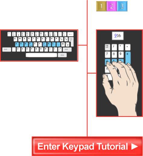Keyboard Number Pad Tutorial | free online numeric keypad tutorials