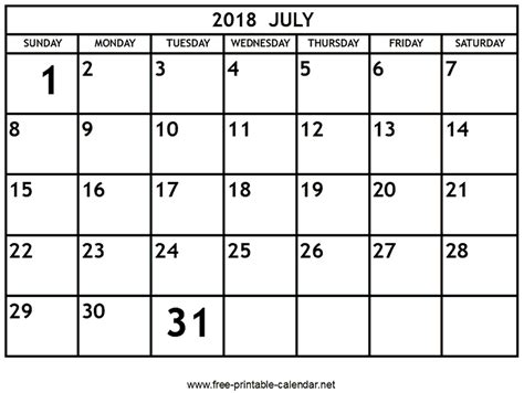 free printable calendar net printable july 2018 calendar download print calendars
