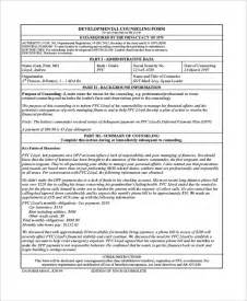 Initial Counseling Template by Sle Army Counseling Form 7 Free Documents In Pdf Doc