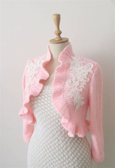 wedding bolero knitting pattern knit bridal ruffle boleros shrugs wedding shrug bolero
