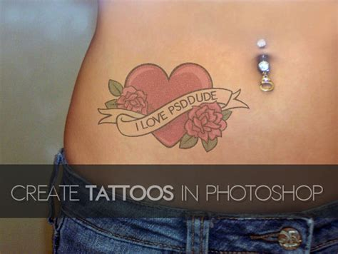 tattoo photoshop create a in photoshop photoshop tutorial psddude