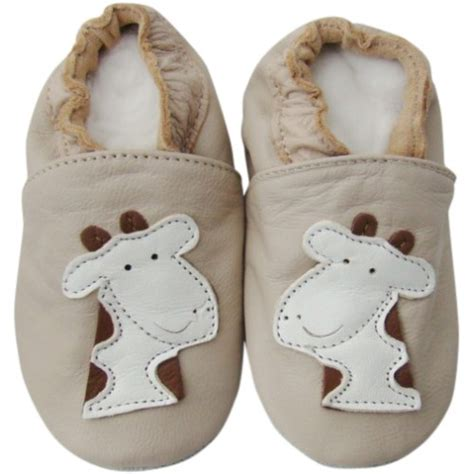 giraffe soft sole leather baby shoes for 0 6 months