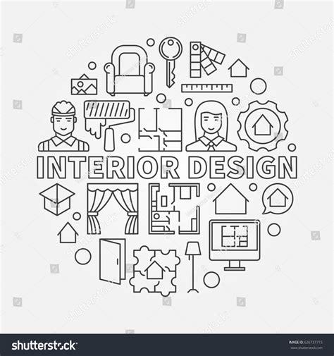 architectural symbols good to know interior designing interior design illustration vector concept architecture