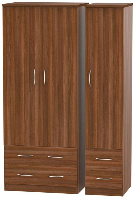 buy avon noche walnut wardrobe with drawer