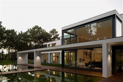 modern lake house plans modern opens house with beautiful pool lake house home