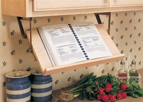 Cabinet Cookbook Holder by Small Kitchen Ideas With Marvelous Retractable Book Stand