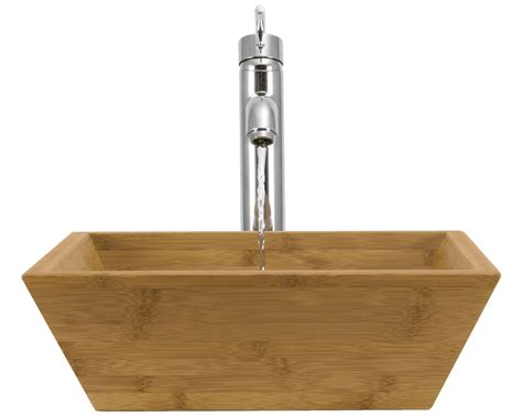 891 bamboo vessel bathroom sink