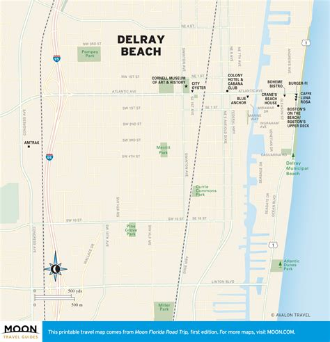 travel map of delray florida