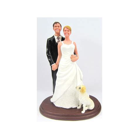 Handmade And Groom Cake Toppers - classic custom and groom wedding cake toppers with a