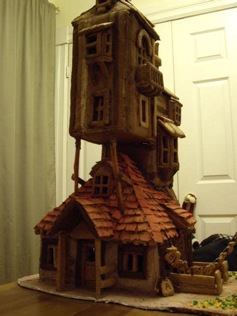 the weasley house harry potter the weasley s burrow gingerbread house