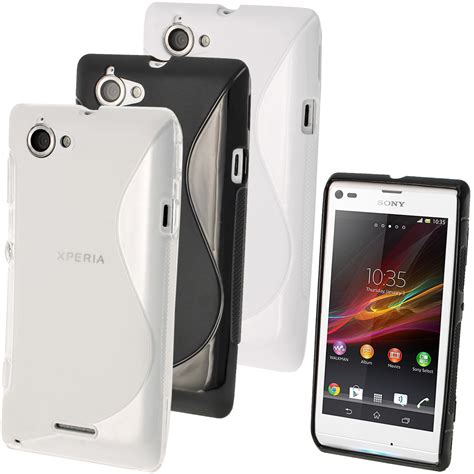 Casing Hp Xperia L s line tpu gel skin cover for sony xperia l c2104 c2105 screen protector ebay