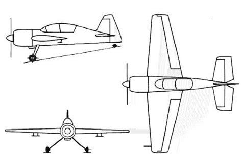 3 Drawing Views by Yak Uk Aircraft Yak 54