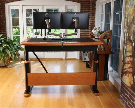 sit stand executive desk wellston executive sit stand desk size caretta
