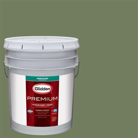 upc 840023357060 glidden premium 5 gal hdgg52 green woods semi gloss interior paint with