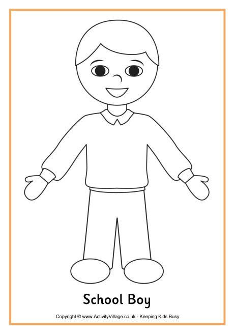 coloring page of school girl school boy colouring page f 228 rgl 228 ggnings bilder
