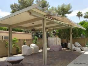 Awning Covers For Decks Freestanding Alumawood Patio Cover With Retractable Awning