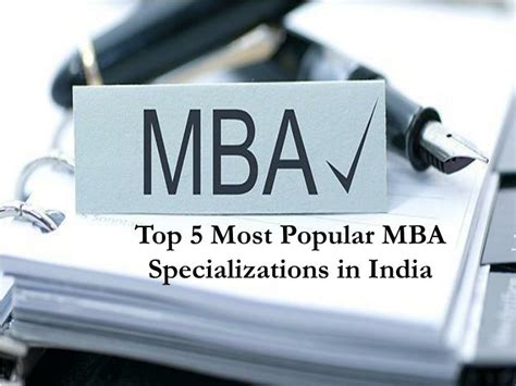How Many Specializations In Mba by Ppt Top 5 Most Popular Mba Specializations In India