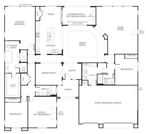One Story House Blueprints The Best Single Story Floor Plans One Story House Plans Pardee Homes Ideas Office Furniture