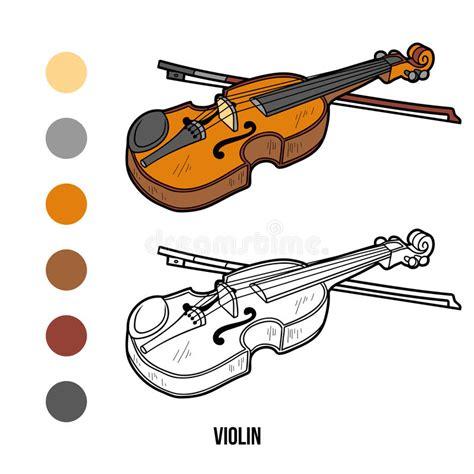 libro violin libro de colorear instrumentos musicales viol 237 n ilustraci 243 n del vector ilustraci 243 n de