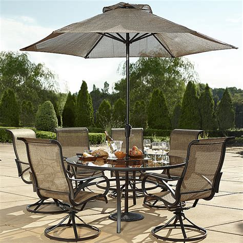 Grand Resort Patio Furniture Grand Resort Xss 1563 7pc Oak Hill 60 Quot 7 Sling Dining Set Limited Availability