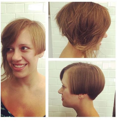stacked pixie with long bangs 48 best images about women s hair by tiger eye stylist on