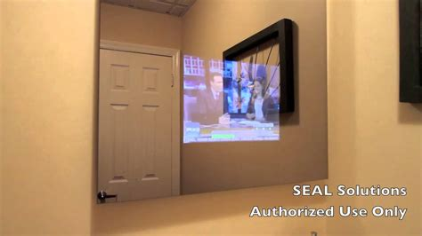 bathroom mirror tv screen seal solutions bathroom mirror tv youtube