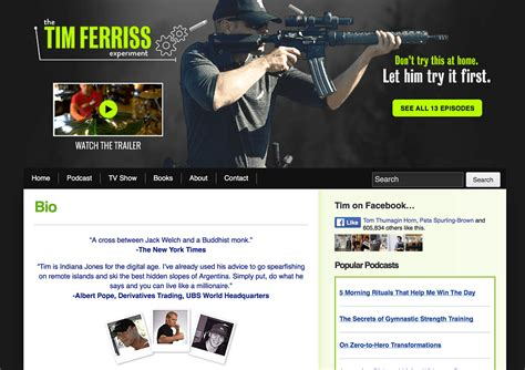 Tim Ferriss Email Detox by 12 Of The Best About Us Pages On The